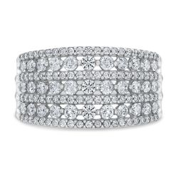 Ellaura Embrace Round Diamond Multi-Row Anniversary Ring 1ctw