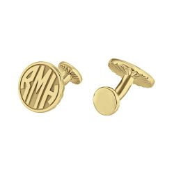 Alison and Ivy Round Original Monogram Cufflinks 18mm