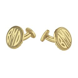 Alison and Ivy Round Original Monogram Cufflinks 18mm 87987