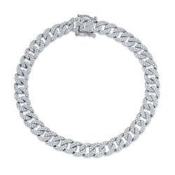 Shy Creation Diamond Pavé Chain Link Bracelet 1 3/4ctw