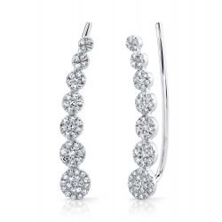 Shy Creation Diamond Pavé Ear Climbers 1/4ctw
