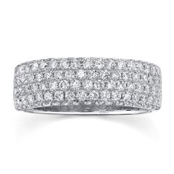 Shy Creation Multi-Row Diamond Pavé Band 1 1/3ctw