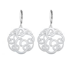 Alison and Ivy Single Initial Leverback Monogram Earrings 20mm