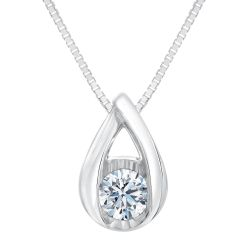 Sirena Diamond Solitaire Pendant 1/7ct
