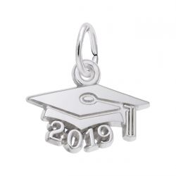 Sterling Silver Graduation Cap 2019 Charm