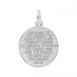 Sterling Silver Serenity Prayer Charm