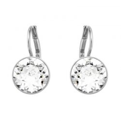 Swarovski Crystal Bella Mini Pierced Rhodium Plated Earrings