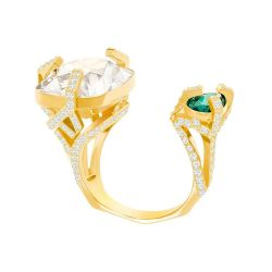 Swarovski Crystal Haven Gold-Tone Open Ring