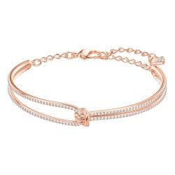 Swarovski Crystal Lifelong Rose Gold-Tone Bracelet
