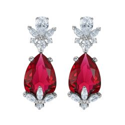 Swarovski Crystal Louison Scarlet Red Drop Earrings