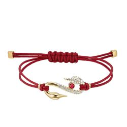 Swarovski Crystal Power Collection Red Hook Bracelet, Gold-Tone
