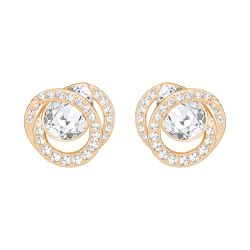 Swarovski Generation White Rose Gold-Tone Earrings