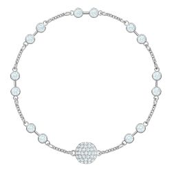 Swarovski Remix Collection Carrier Rhodium-Plated White Crystal Strand