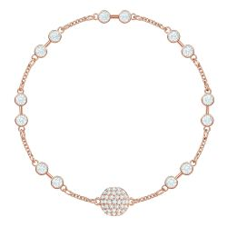 Swarovski Remix Collection Carrier Rose Gold-Tone White Crystal Strand
