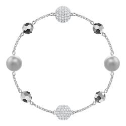 Swarovski Remix Collection Rhodium-Plated Mixed Crystal Pearl Strand