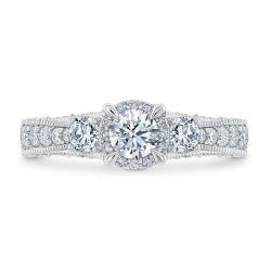 Ellaura Journey Three-Stone Round Diamond Engagement Ring 1 3/8ctw