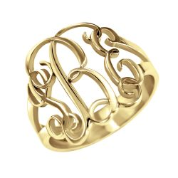 Alison and Ivy Traditional Monogram Ring 18mm