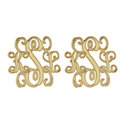 Alison and Ivy Traditional Monogram Stud Earrings 20mm