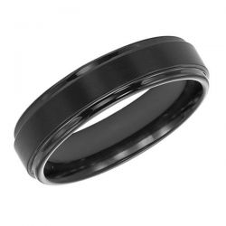 TRITON Black Tungsten Carbide Comfort Fit Band 6mm