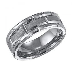 TRITON Grey Tungsten Carbide Comfort Fit Band 8mm