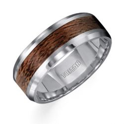TRITON Tungsten Carbide and Wood Comfort Fit Band 8mm