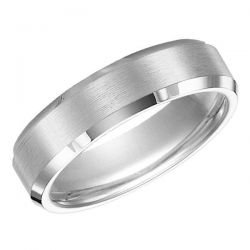 TRITON White Tungsten Carbide Comfort Fit Band 6mm