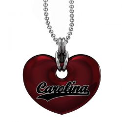 University of South Carolina Garnet Red Enamel Heart Pendant