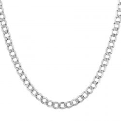 White Gold Curb Chain 3.7mm