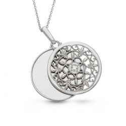 With You Lockets Birdie Sterling Silver Diamond Accent Locket