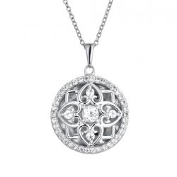 With You Lockets Elsie Sterling Silver White Topaz Locket