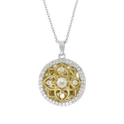 With You Lockets Elsie Two-Tone White Topaz Locket