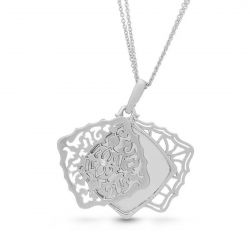 With You Lockets Mimi Sterling Silver Diamond Accent Locket