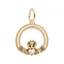 Yellow Gold Claddagh Charm