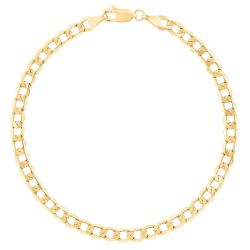 Yellow Gold Curb Chain Bracelet, 4.3mm
