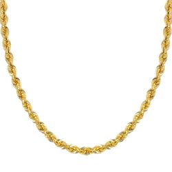Yellow Gold Light Rope Chain 2.9mm