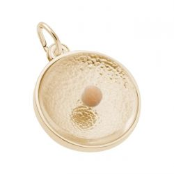 Yellow Gold Mustard Seed Charm