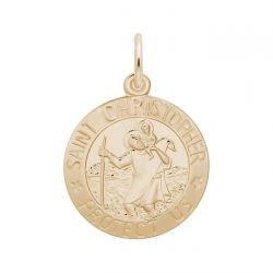 Yellow Gold Saint Christopher Charm
