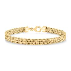 Yellow Gold Triple Strand Rope Bracelet