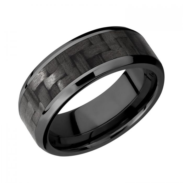 Ring Size 12 Security Jewelers Cobalt 7mm Black PVD Design Band 12