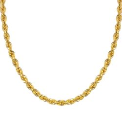Yellow Gold Light Rope Chain 2.3mm