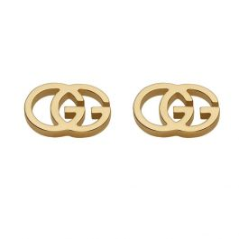 bd486b7a2980f Gucci GG Tissue Stud Earrings in 18k Yellow Gold - Item 19381235 ...
