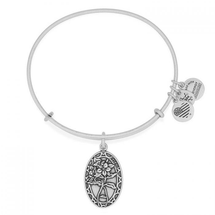 Alex and Ani Starfish Expandable Charm Bracelet, Rafaelian Silver-Tone