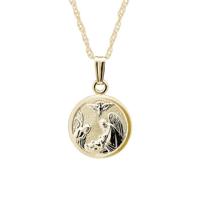 guardian plated pendant gold angel necklace jewelry silver