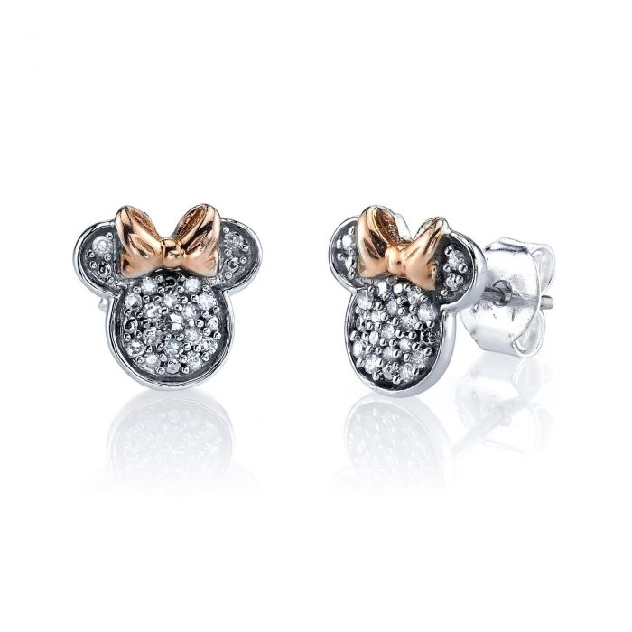 e3020f703 Disney Minnie Mouse Sterling Silver Diamond Stud Earrings 1/10 ctw - Item  19840388 | REEDS Jewelers
