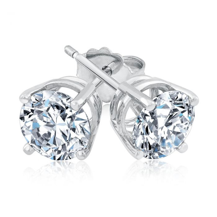 Exclusive Reeds Econic Lab Grown Diamond Solitaire Earrings 2ctw With Igi Grading Report