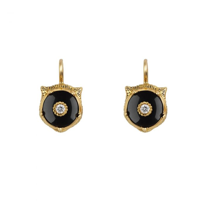 f8775775468 Gucci Le Marche des Merveilles Diamond and Black Onyx Drop Earrings ...