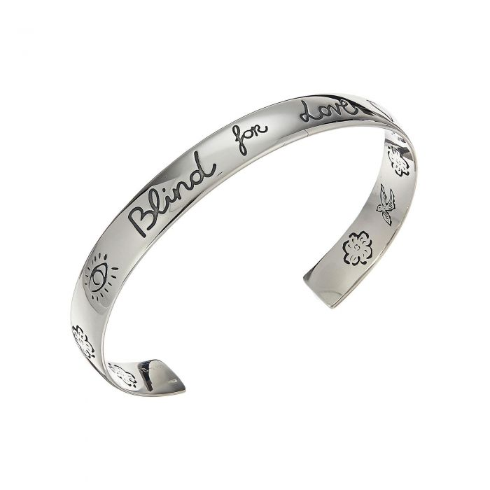 5de153327ad Gucci Sterling Silver Blind for Love Engraved Cuff - Item 19756220 ...