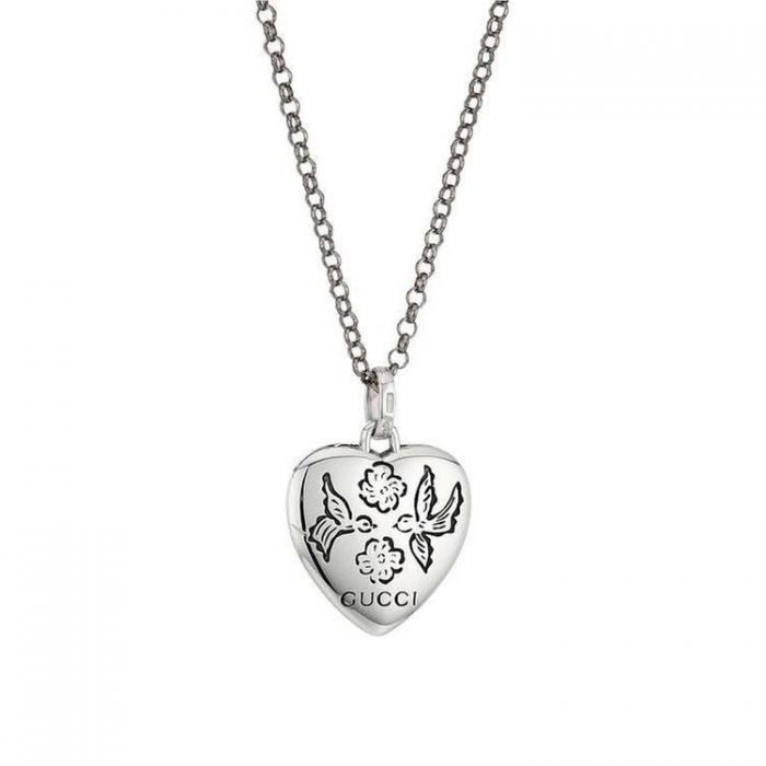 7387635ea4f Gucci Sterling Silver Blind for Love Engraved Heart Pendant - Item 19756238