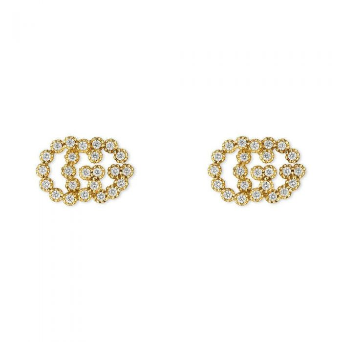 074be08f415 Gucci Yellow Gold GG Diamond Stud Earrings 1 4ctw - Item 19817592 ...