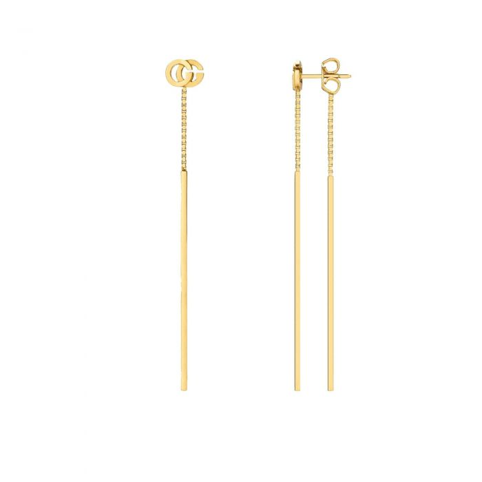 93afe6a8dd7 Gucci Yellow Gold Running GG Drop Earrings - Item 19817576